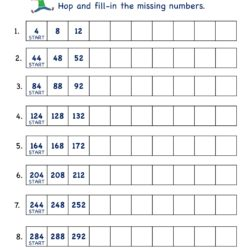 Math Number worksheets skip counting by 4 -5