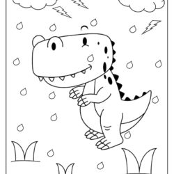 Baby Dino Coloring Page