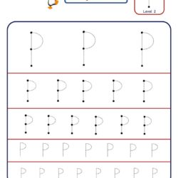 How to master Letter P with letter tracing worksheetin multiple sizes