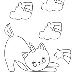 Playful Cat Coloring Page