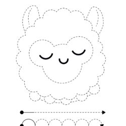 Letter S trace and color Sheep worksheet