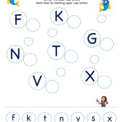 Letter Matching Activity Worksheet - Letter Matching Upper Case to Lower Case