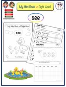 See Sight Word Worksheets