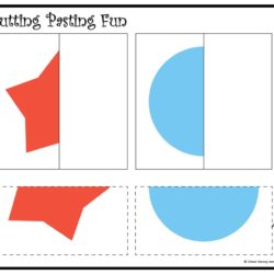 Cutting and pasting Activity worksheet. Play and learn with shapes worksheet 13