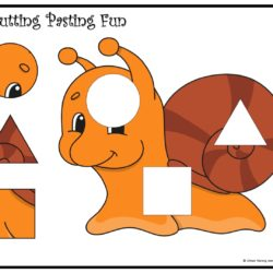 Cutting and pasting Activity worksheet. Play and learn with shapes worksheet 6