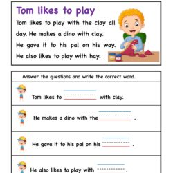 Reading Comprehension Stories with ay word Family